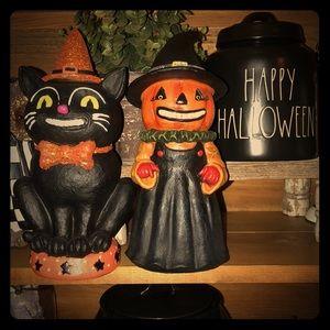 Johanna Parker Vintage Inspired Cat & Pumpkin
